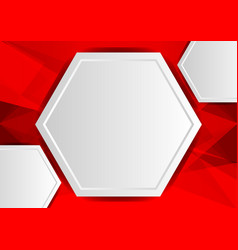 red abstract poly background with copy space vector image
