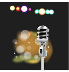 Retro microphone abstract spotlight vector