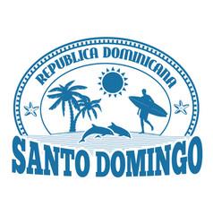 Santo domingo stamp or label vector
