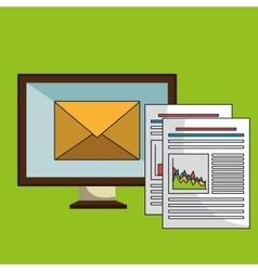 screen pc files envelope vector image