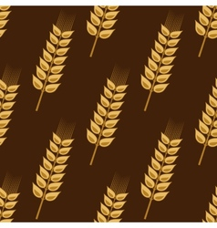 Seamless pattern of cereal golden wheat ears vector image vector image