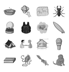 Security camping education and other web icon in vector
