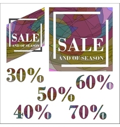 Set sale design template vector image