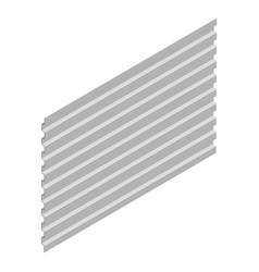Sheet steel profile in isometric vector