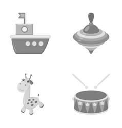 Ship yule giraffe drumtoys set collection vector
