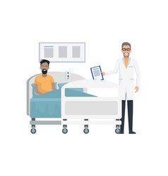 smiling doctor and patient on vector image vector image