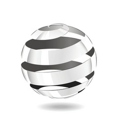 steel strip ball vector image vector image