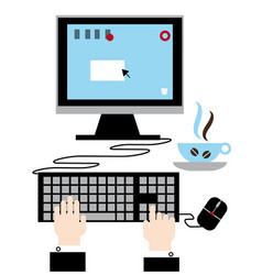 Using your computer modern technology vector