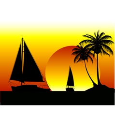 Yachts summer holiday vector