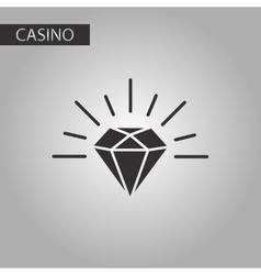 black and white style diamond symbol vector image