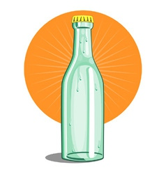 Softdrink bottle retro vector
