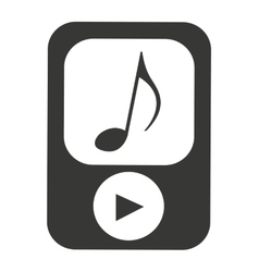 Player music mp3 device vector