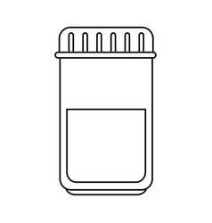 Medical bottle plastic icon vector