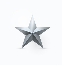 Five-pointed metal star vector