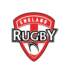 Rugby ball shield england cross flag vector