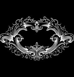 One Color Ornate Frame vector image