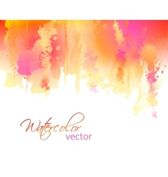 Abstract watercolor streaks background vector