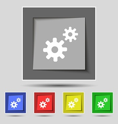 Cog settings cogwheel gear mechanism icon sign on vector
