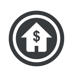 Round black dollar house sign vector
