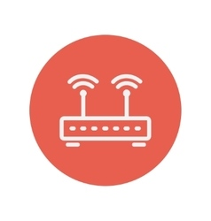 Wireless router thin line icon vector