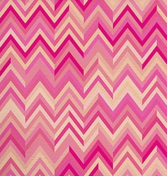 Seamless pattern pink zigzag hipster retro vintage vector