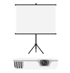 Projector and screen vector