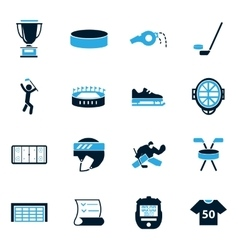 Hockey icons set vector