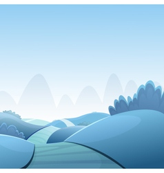 Cartoon winter landscape vector