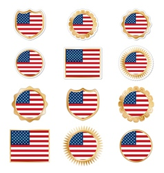 United states emblems vector
