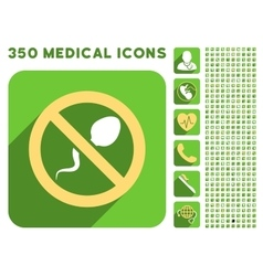 Spermicide icon and medical longshadow icon set vector