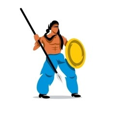 Persian warrior cartoon vector