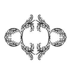 Antique vintage floral ornament on white vector image