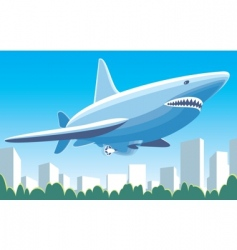 airship shark vector image