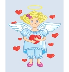 Angel With Heart vector image