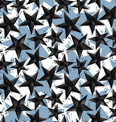 Black stars seamless pattern geometric vector image