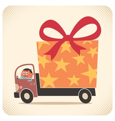 Bringing gift card vector