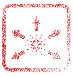 Cardano spend arrows framed stamp vector