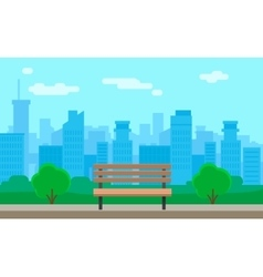 Cityscape and bench vector image