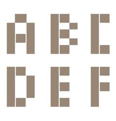 Constructor letter set vector image