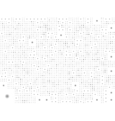 dotted pattern background in black and white vector image vector image