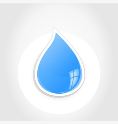 Drop vector image