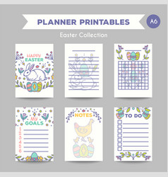 Easter journal card design vector