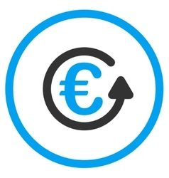 Euro chargeback circled icon vector