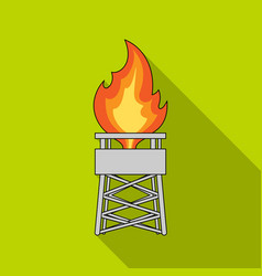 Gas toweroil single icon in flat style vector