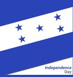 Honduras independence day vector