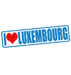 i love luxembourg stamp vector image vector image