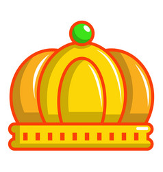 imperial crown icon cartoon style vector image