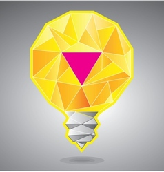 Light bulb with magenta accent vector image