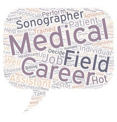 Medical field careers text background wordcloud vector