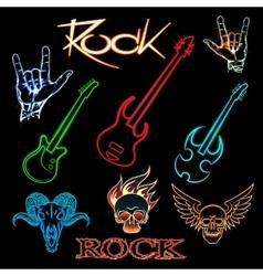 Neon rock vector